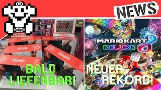 Switch bald wieder verfügbar dank Luftpost! - MK8 Deluxe stellt Rekorde auf! - NerdNews #123