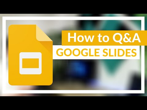 Q&A Feature in Google Slides (Audience Tools)
