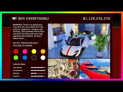 How Much Money Does It Cost To Buy EVERYTHING In GTA Online?