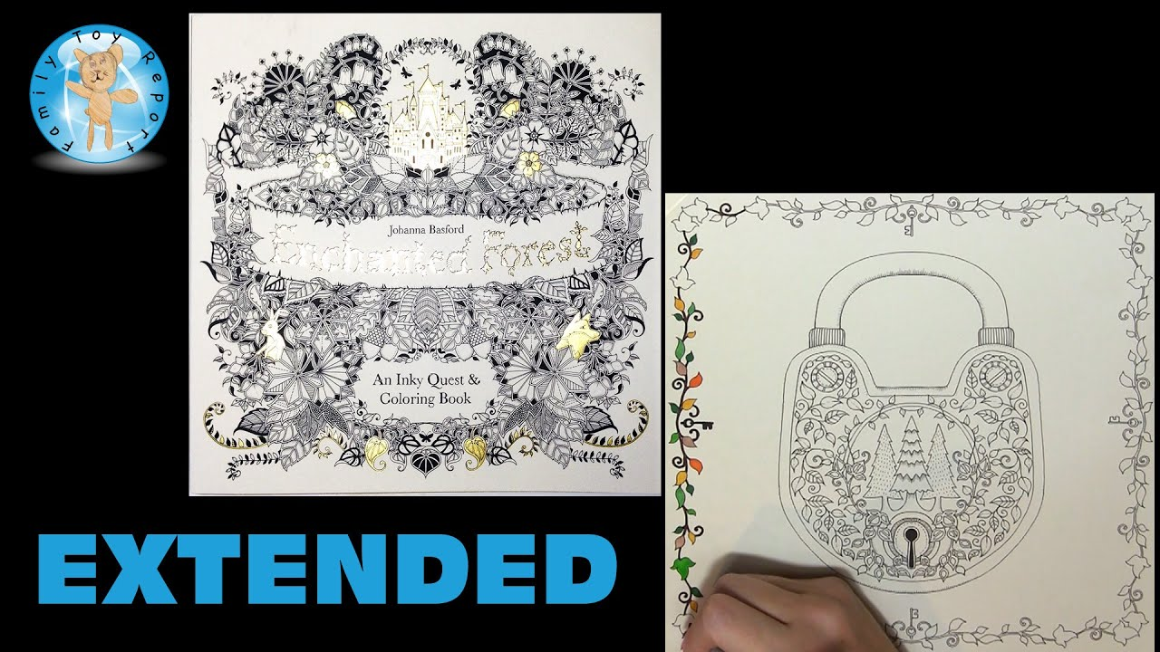 Enchanted Forest By Johanna Basford Adult Coloring Book Lock Extended