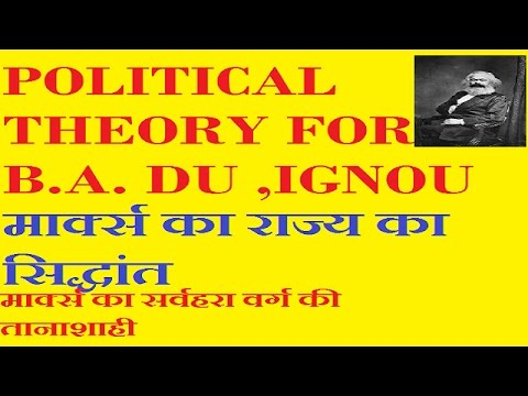 b.a political theory , karl marx theory of state, political science in hindi