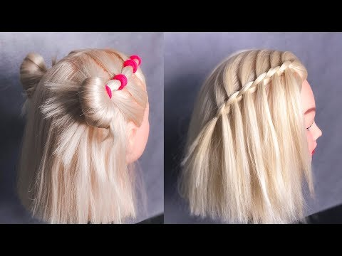 ПРИЧЕСКИ на Каждый день на Короткие Волосы. Short Hairstyles  ©LOZNITSA Прически на Новый год.