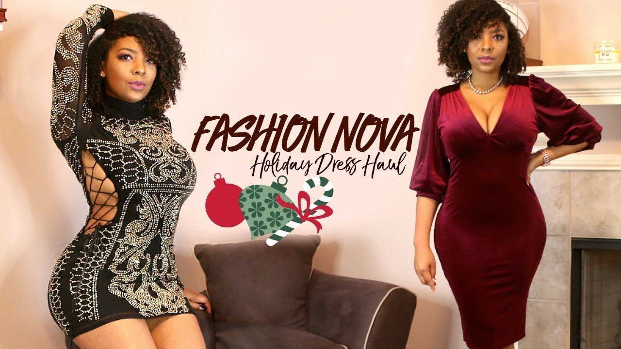 FASHION NOVA HOLIDAY DRESS TRY ON HAUL 2017 - YouTube 415a3a252