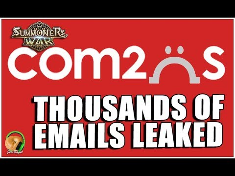 SUMMONERS WAR : THOUSANDS of player emails leaked :(