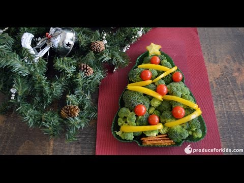 christmas tree veggie platter healthy recipe for the holidays