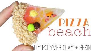 How to DIY Pizza Themed Beach w/ Marine Animals Polymer Clay/Resin Tutorial