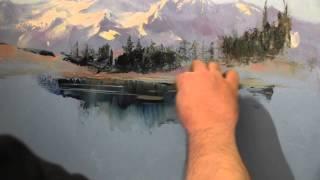 Научиться писать горы маслом, художник Сахаров