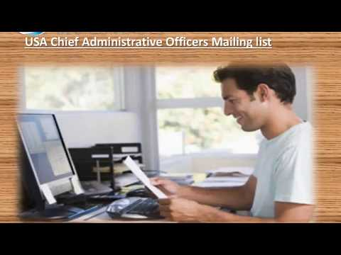 USA Chief Administrative Officers Mailing list