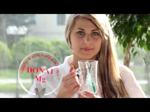 Питье лечебной минеральной воды Донат Мг из источника в Медицинском центре Рогашка