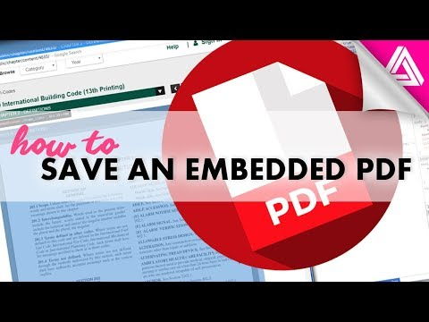 How To Save A PDF That's Embedded In A Website