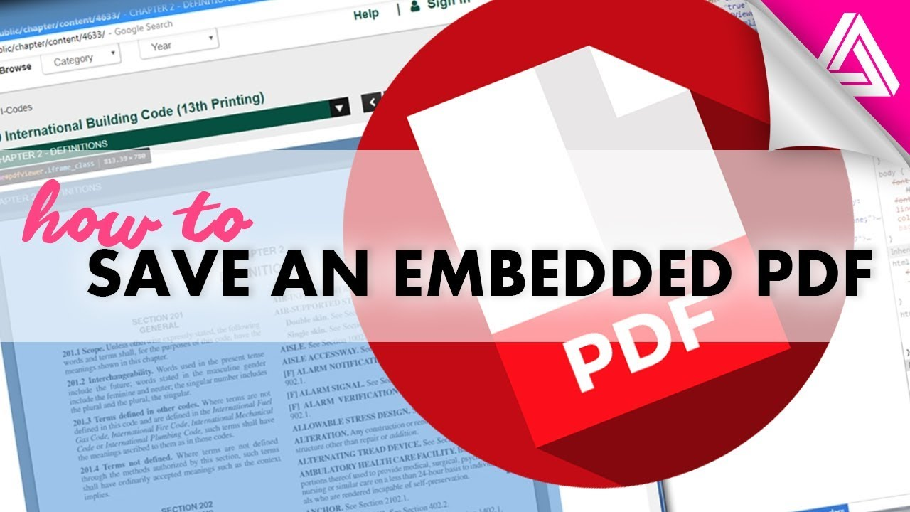 How To Save A Pdf That S Embedded In A Website Youtube