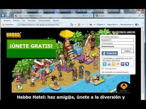 Como entrar al habbo hotel youtube for Habbo entrar