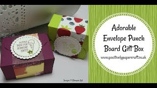Adorable Envelope Punch Board Gift Box