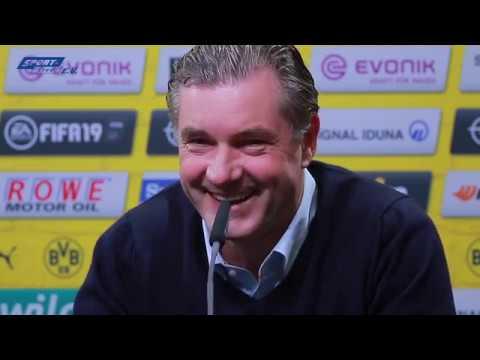 PK. Fortuna Düsseldorf-Bor. Dortmund mit PK mit Favre und Zorc