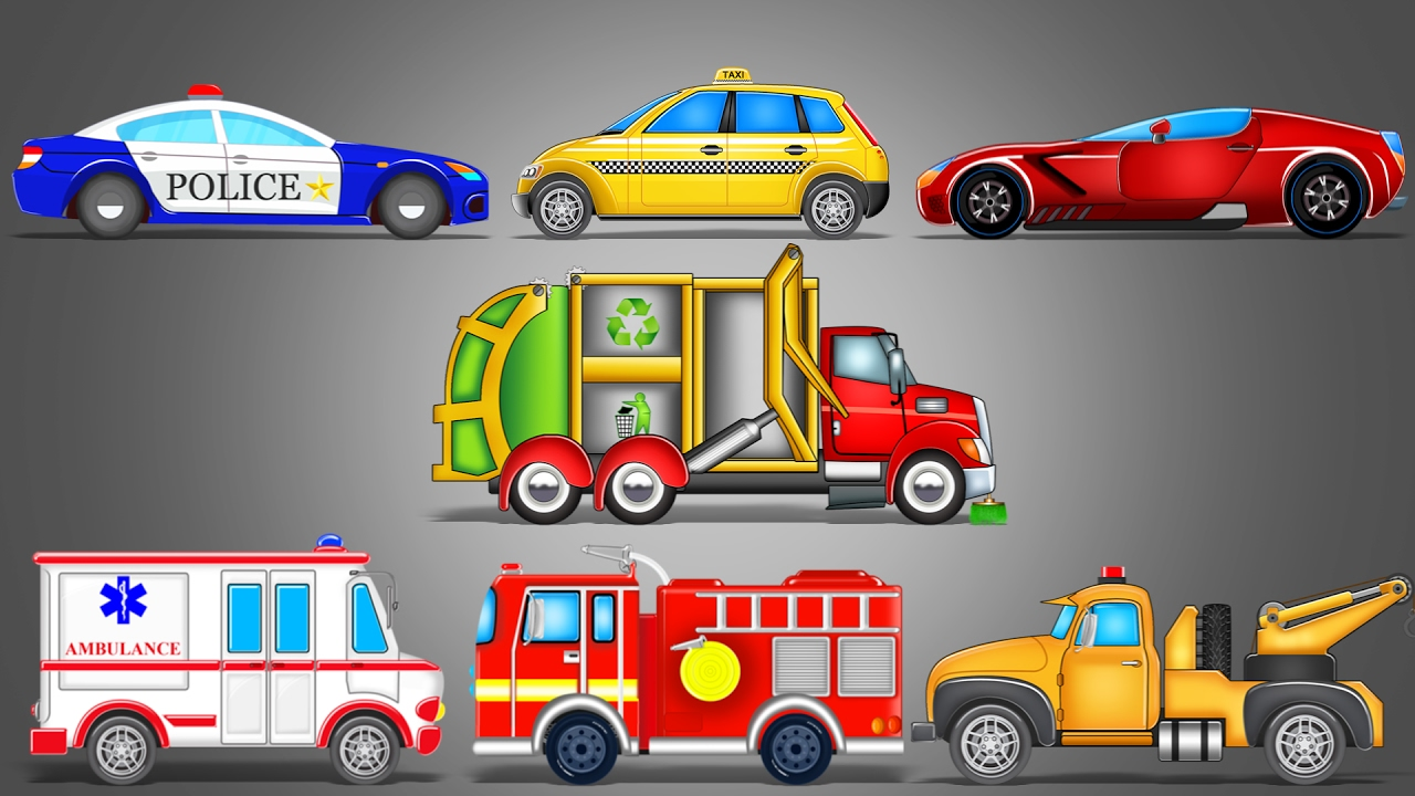 Street Vehicles | LearnIng Vehicles | Car Cartoon | Video ...