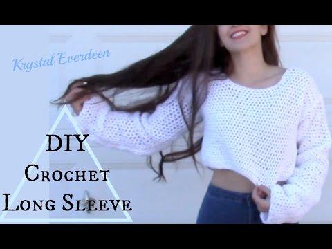 DIY Crochet Long Sleeve Top pt 1