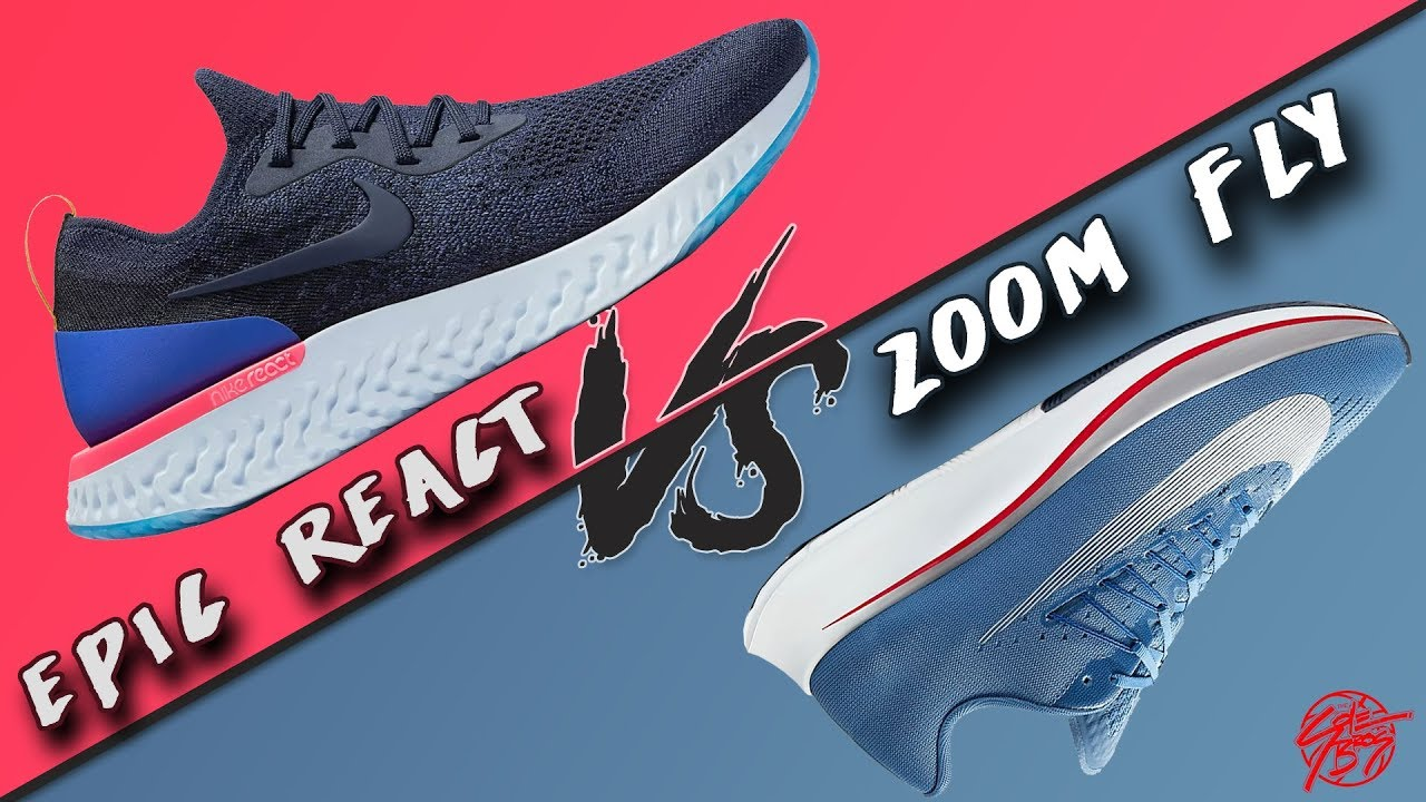 04c503e1b0f77 Nike Epic React vs. Zoom Fly! What s More Comfortable   - YouTube
