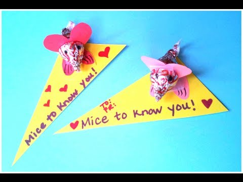 DIY Valentines Day Craft Cute Mouse Card YouTube – Diy Valentine Cards for Kids