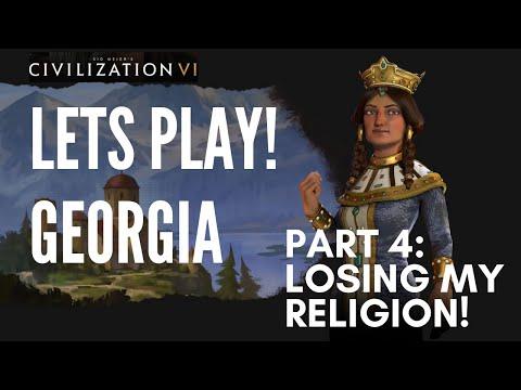 LOSING My Religion!   Let's Play Civilization 6 - Deity Georgia - Part 4