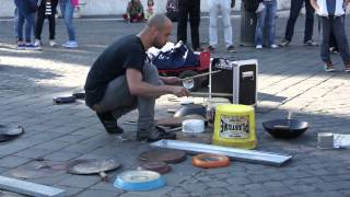 Incredible street drummer in Rome (Dario Rossi)