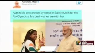 Rio Olympics 2016: Celebrities wish Rio medal winner Sakshi Malik on twitter