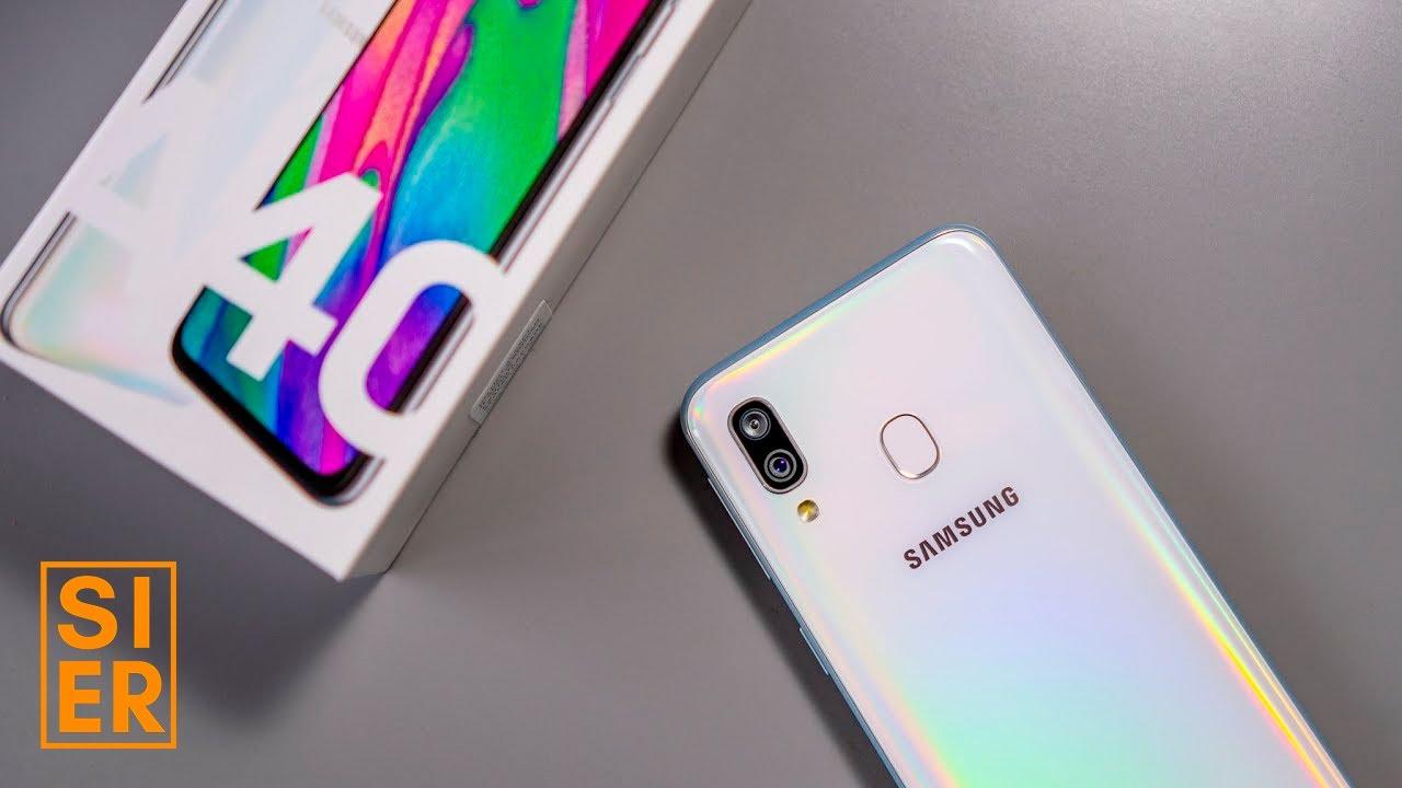 Samsung Galaxy A40   Unboxing   SiER