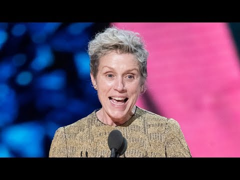 Frances McDormand Wins Best Actress & Asks ALL Female Nominees To Stand At 2018 Oscars