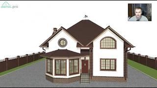 Проект красивого мансардного дома с «Домашний+2»  C-263-ТП