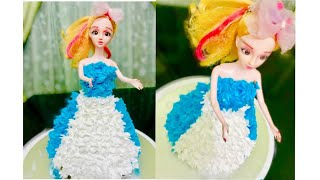Barbie Cake   Doll Cake   Easy Recipe  Without Oven