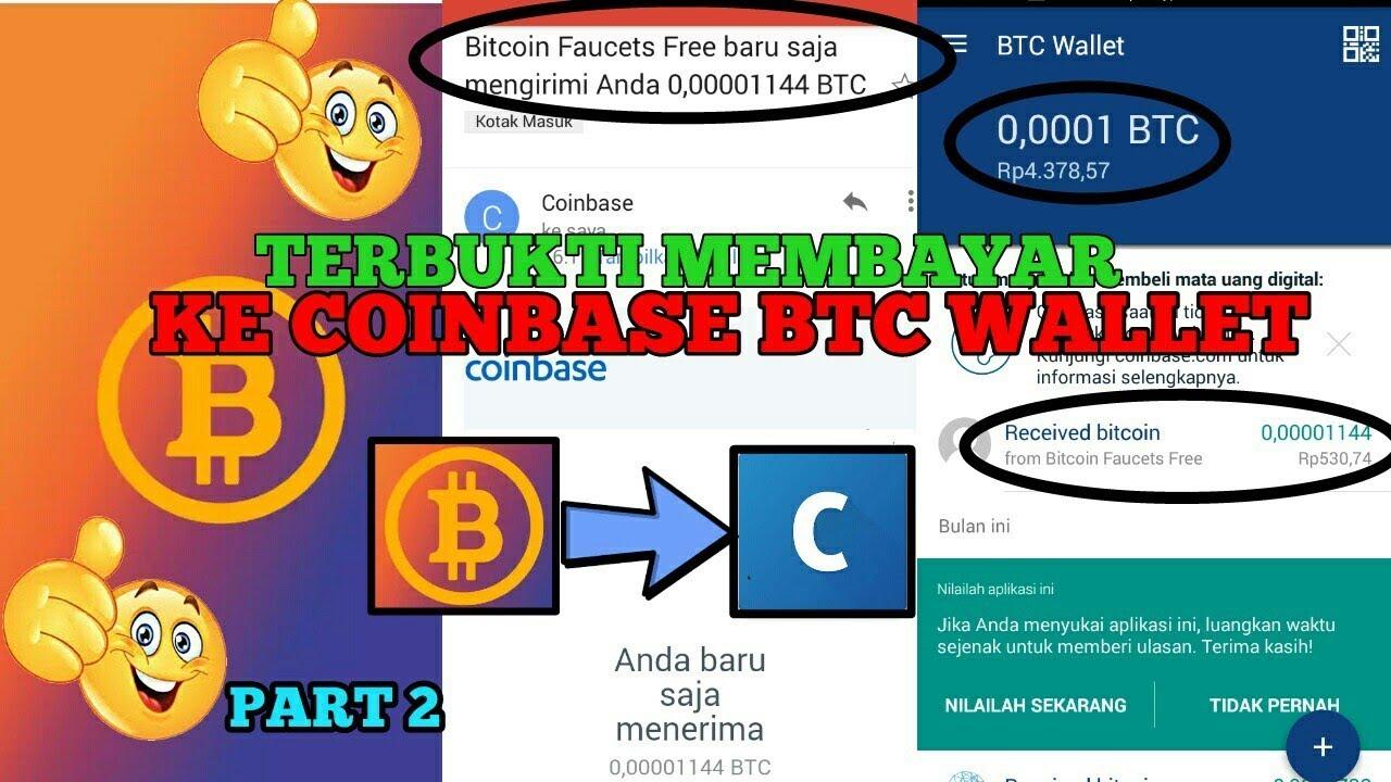 FAUCET BITCOIN TERBUKTI MEMBAYAR WINDRAW KE BTC WALLET COINBASE ...