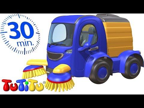 Игрушки на колесах Kомпиляция | Подметально-уборочная машина | 30 минут ТуТиТу Игрушки