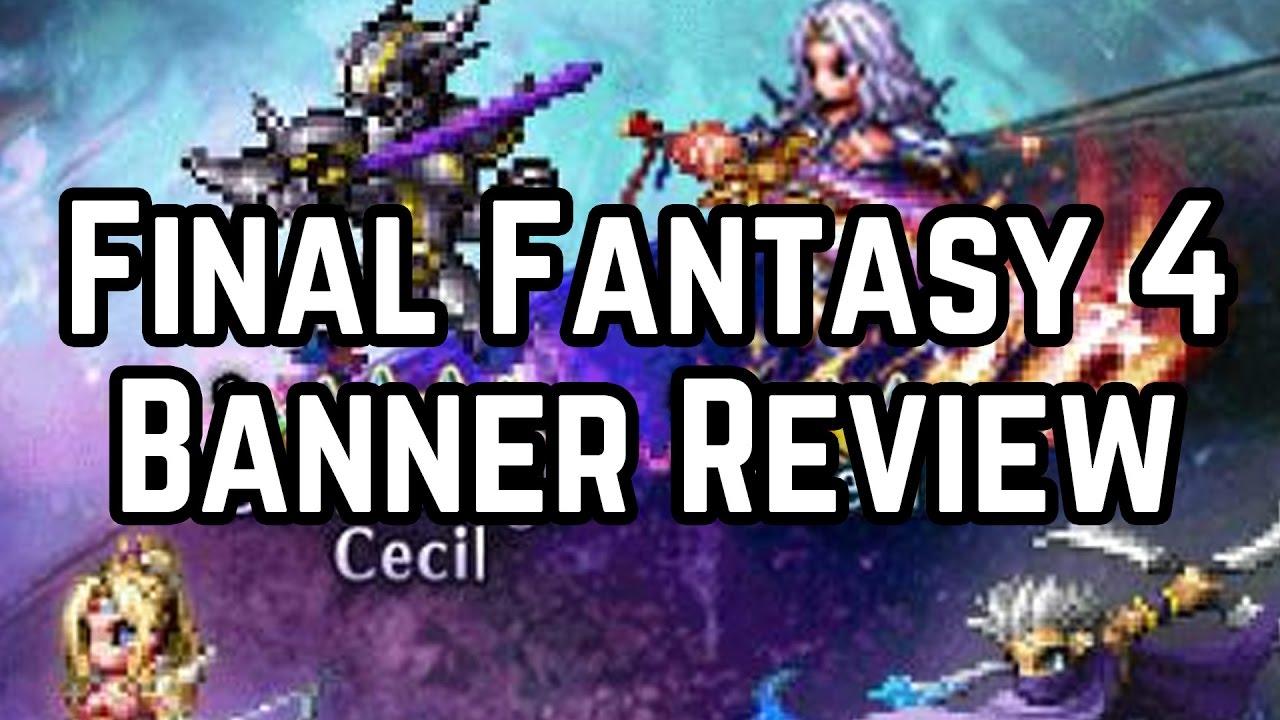 ausgewähltes Material Turnschuhe modernes Design Final Fantasy Brave Exvius - Rosa, Edge, Dark Knight Cecil, and Cecil  Banner Review!