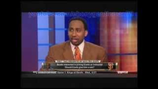 "ESPN First Take: Stephen A Smith: ""Sammy Sosa is almost as light as YOU, Skip!"" 5-29-2012"