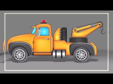 caminhão de reboque para crianças | Formação e uso | construção veículos | Tow Truck Formation & Use