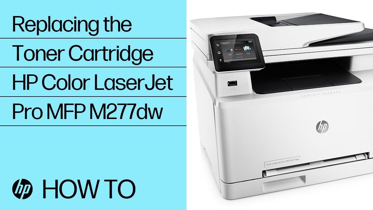 Replacing A Toner Cartridge In The Hp Color Laserjet Pro