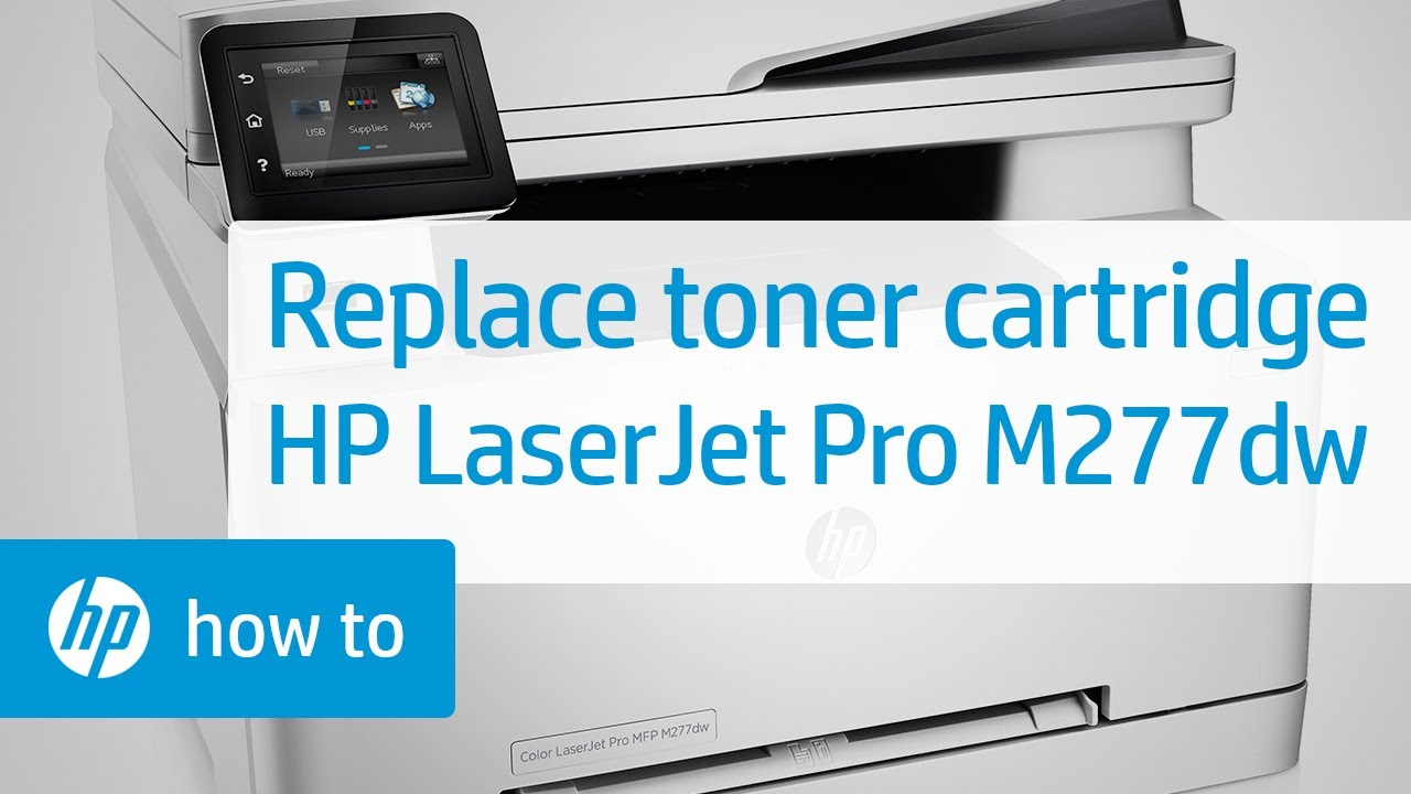 Replacing A Toner Cartridge In The Hp Color Laserjet Pro Mfp