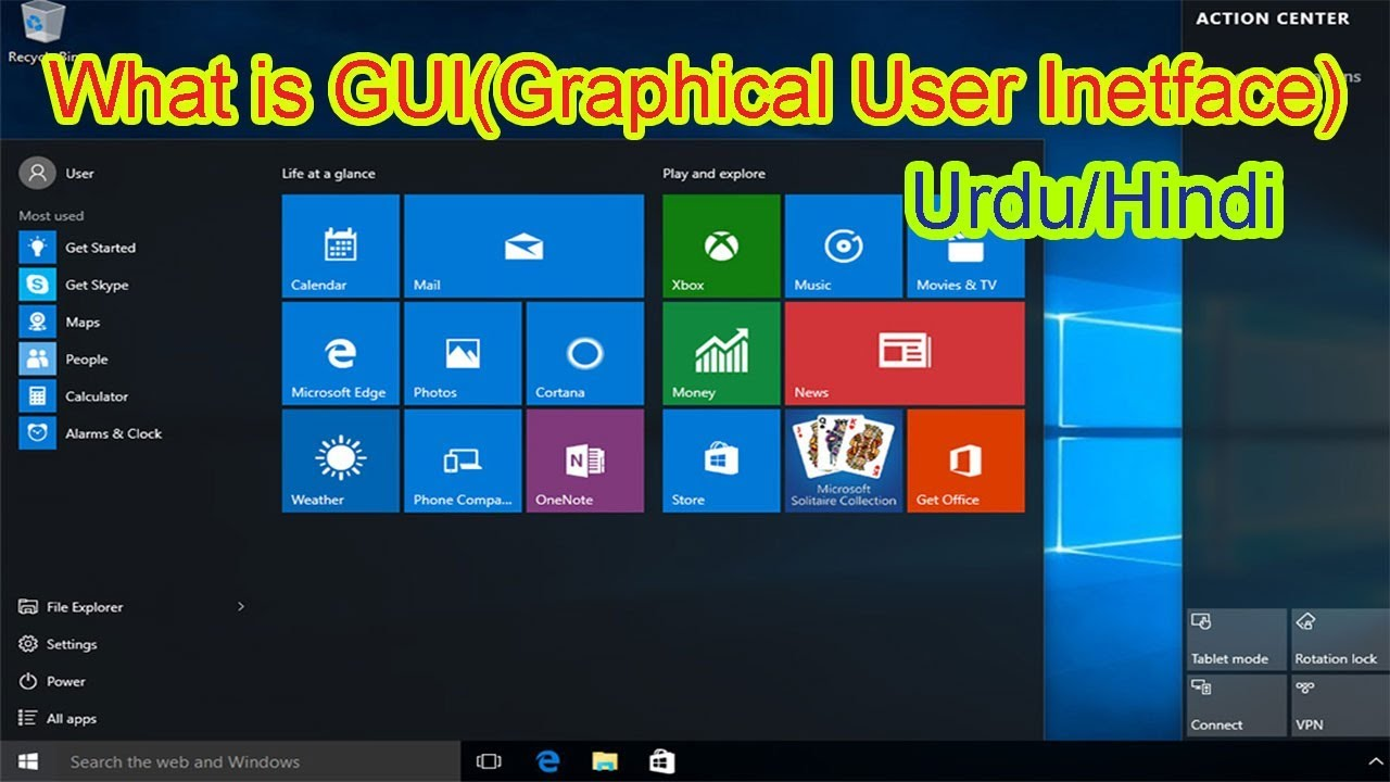What Is Gui In Urdu Hindi Graphical User Interface Youtube