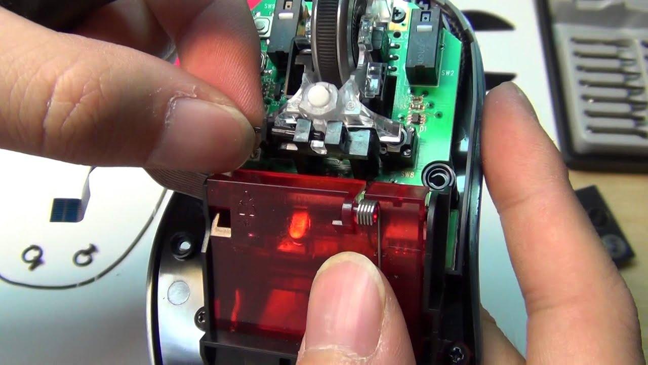 Logitech G500s Laser Gaming Mouse Teardown Specs Inside