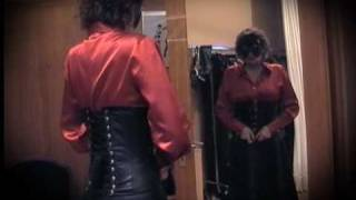 Repeat youtube video Madame Graf Corset High Heels Leatherskirt Satin Blouse