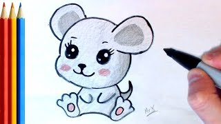 How to Draw Cute Mouse (Simple!) - Step by Step Tutorial