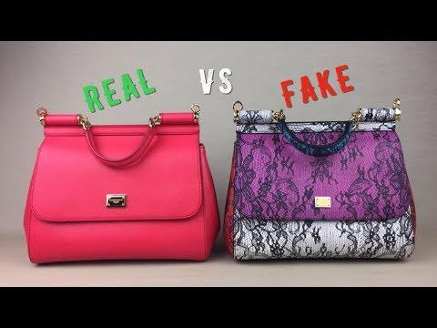 How To Spot FAKE Vs AUTHENTIC DOLCE & GABBANA Miss Sicily Bag Handbag Monalisalikes Part 3