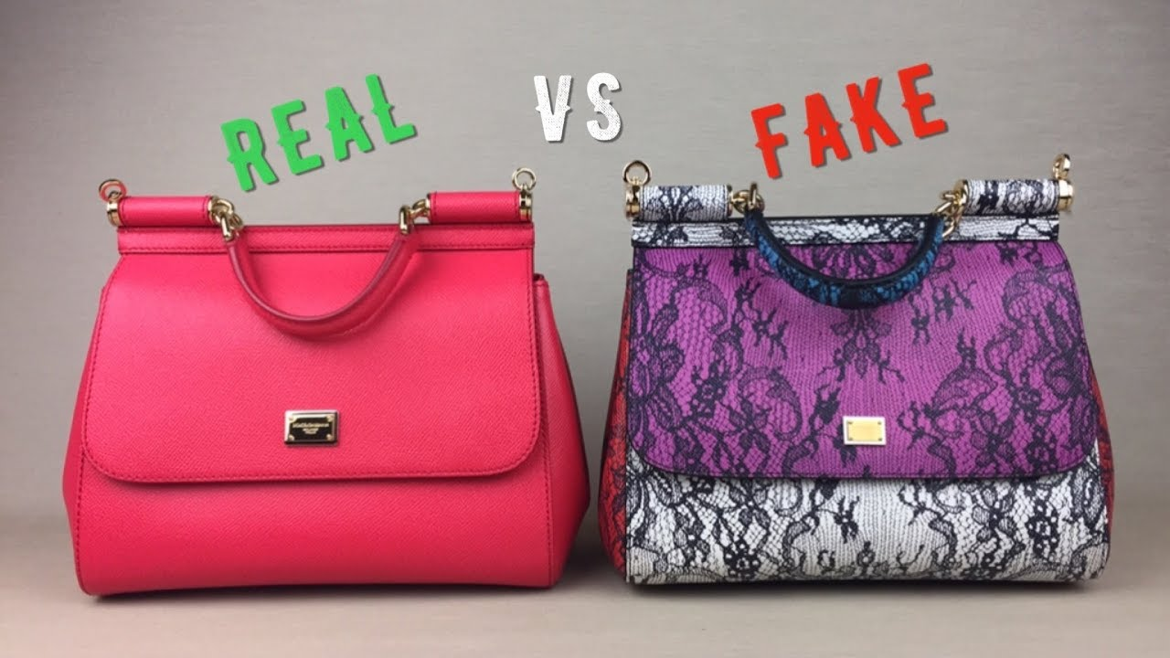 How to spot FAKE vs AUTHENTIC DOLCE   GABBANA Miss Sicily bag handbag  Monalisalikes Part 3 54c9c0469a331