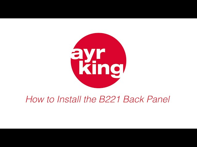 AYRKING DIY: BACK PANEL INSTALLATION