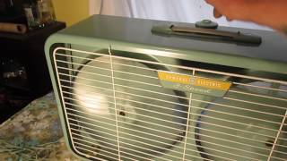 Vintage 1960 General Electric Twin window box fan