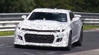 [SPYVIDEO] 2017 Chevrolet Camaro ZL1 Testing on the Nürburgring!