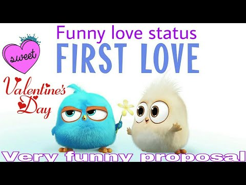 Valentine propose Funny love animated watsapp status || valentines special 2018