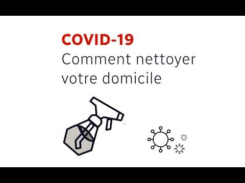 Covid-19: comment nettoyer votre domicile?