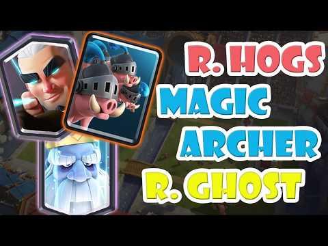 Royal Hog Magic Archer Royal Ghost Deck ???????????? New Royal Hogs Deck Clash Royale