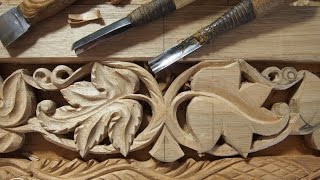 Wood carving. Резьба по дереву. Виноградная лоза.