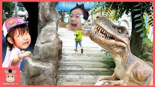 공룡 세계 가다 ! 공룡대탐험 다이노스타 쥬라기 키즈카페 놀이 ♡ 어린이 장난감 볼풀놀이 타요 Tayo in real life | 말이야와 아이들 MariAndKids